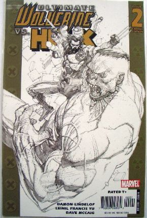 Ultimate Wolverine vs. Hulk #2 Retail Incentive Sketch Variant Marvel Comics